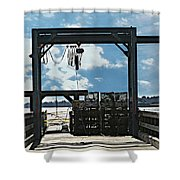 A Short Pier In Portsmouth Nh Shower Curtain
