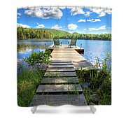 A Short Walk To Paradise  Shower Curtain