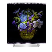 A Shot Of Springtime Wildflowers Shower Curtain