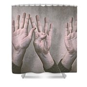 A Show Of Hands Day 197 Shower Curtain