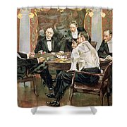 A Showdown Shower Curtain by Albert Beck Wenzell