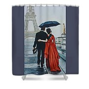 A Shower At The Trocadero Shower Curtain