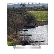 A Shropshire Mere Shower Curtain