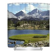 A Sierra Mountain Lake In Summer Shower Curtain