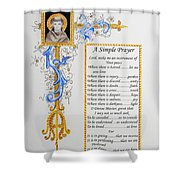 A Simple Prayer Shower Curtain