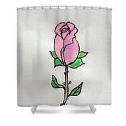 A Single Rose Shower Curtain