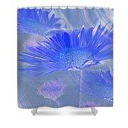 A Slanting Blue Wind  Shower Curtain