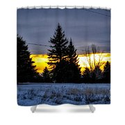 A Sleepy Morning Sunrise Shower Curtain