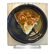 A Slice Of Savory Tomato And Cheese Tart Shower Curtain