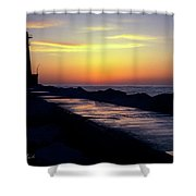 A Sliver Of Sunset Shower Curtain