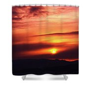 A Slow Sunset      Shower Curtain
