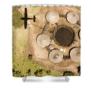 A Small Boma And Family Compound Shower Curtain