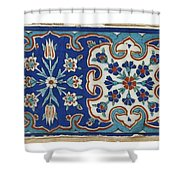 A Small Iznik Pottery Tile Shower Curtain