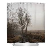 A Small Rural Creek  Shower Curtain
