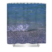 A Small Wave Ripples Onto Shore Shower Curtain