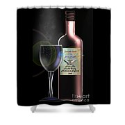 A Smooth Claret On Blue Nights Shower Curtain