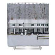 A Snowstorm At Valley Green Inn Shower Curtain