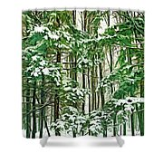 A Snowy Day - Paint Shower Curtain
