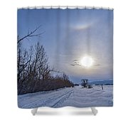 A Solar Halo Around The Sun At The End Shower Curtain