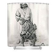 A Soldier's Prayer Shower Curtain by Linda Bissett