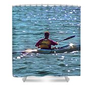 A Solitary Afternoon 2015 Shower Curtain