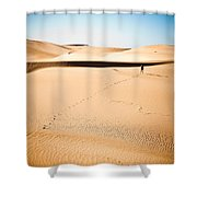 A Solitary Walk Shower Curtain