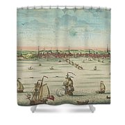 A South East View Of The Great Town Of Boston In New England In America, 1730 Shower Curtain