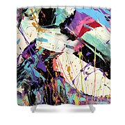 A Space Of Possibles Abstract Shower Curtain