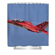 A Special Painted Yak-130 Performing Shower Curtain