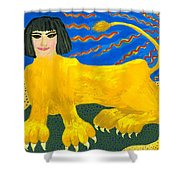 A Sphinx Shower Curtain