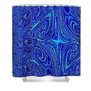 A Spiritual Retereat In Blue Shower Curtain
