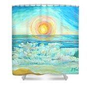 A Splash Of Dawn Shower Curtain