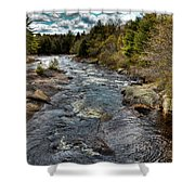 A Spring Day At Little Woodhull Creek Shower Curtain