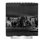A Spring Day On Old Forge Pond Shower Curtain