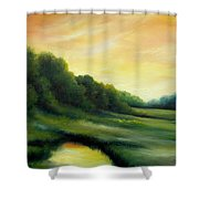 A Spring Evening Part Two Shower Curtain