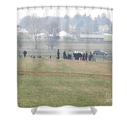 A Spring Gathering Shower Curtain