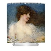 A Spring Idyll Shower Curtain by George Henry Boughton