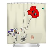 A Spring Look Shower Curtain