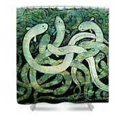A Squirm Of Eels At The Bottom Of The Pond Shower Curtain