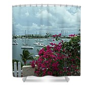 A St Maarten Marina Shower Curtain