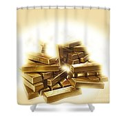 A Stack Of Gold Bullion  Shower Curtain