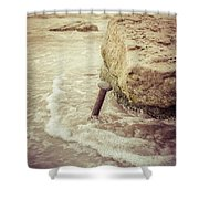 A Stake In The Beach Shower Curtain
