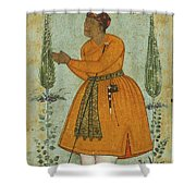 A Standing Portrait Of A Courtier Shower Curtain