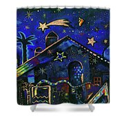 a star in Bethlehem Shower Curtain