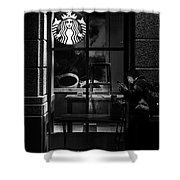 A Starbucks Respite In Downtown San Jose Shower Curtain