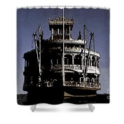 A Steamboat Coming Shower Curtain