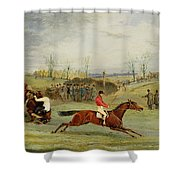 A Steeplechase - Another Hedge Shower Curtain