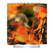 A Sting Like Fire Shower Curtain