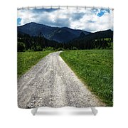 A Stone Path Through The Countryside Into The Forest Shower Curtain