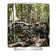 A Stone Structure In The Berkshire Hills Shower Curtain